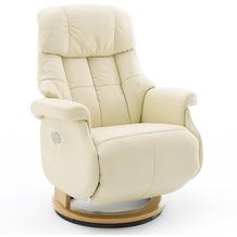 MCA furniture Calgary Comfort elektrisch Relaxsessel mit Fußstütze, creme/natur