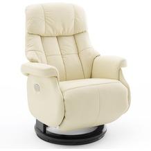 MCA furniture Calgary Comfort elektrisch Relaxsessel mit Fußstütze, creme/schwarz