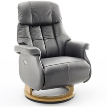 MCA furniture Calgary Comfort elektrisch Relaxsessel mit Fußstütze, taupe/natur