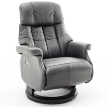 MCA furniture Calgary Comfort elektrisch Relaxsessel mit Fußstütze, taupe/schwarz