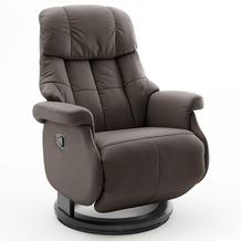 MCA furniture Calgary Comfort Relaxsessel mit Fußstütze, braun/schwarz