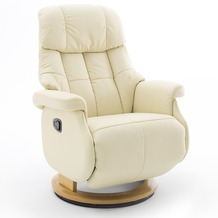 MCA furniture Calgary Comfort Relaxsessel mit Fußstütze, creme/natur