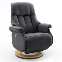 MCA furniture Calgary Comfort Relaxsessel mit Fußstütze, schwarz/natur