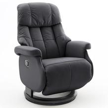 MCA furniture Calgary Comfort Relaxsessel mit Fußstütze, schwarz/schwarz