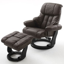 MCA furniture Calgary Relaxsessel mit Hocker, braun/schwarz
