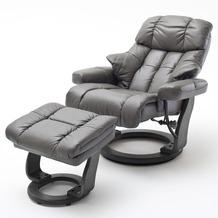 MCA furniture Calgary Relaxsessel mit Hocker, schlamm/schwarz