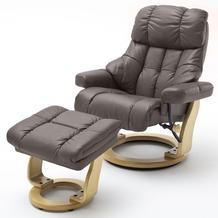MCA furniture Calgary XXL Relaxsessel mit Hocker, braun/natur