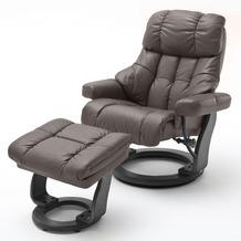 MCA furniture Calgary XXL Relaxsessel mit Hocker, braun/schwarz