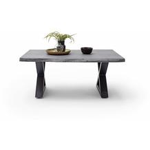 MCA furniture Cartagena Couchtisch grau anthrazit lackiert X-Bein 110 x 45 x 70 cm