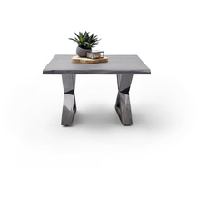 MCA furniture Cartagena Couchtisch grau antik gewischt X-Beine 75 x 45 x 75 cm