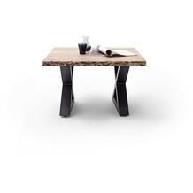 MCA furniture Cartagena Couchtisch natur anthrazit lackiert X-Beine 75 x 45 x 75 cm
