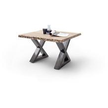 MCA furniture Cartagena Couchtisch natur antik gewischt X-Beine 75 x 45 x 75 cm