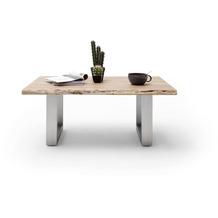 MCA furniture Cartagena Couchtisch natur Edelstahl gebürstet U-Beine 110 x 45 x 70 cm
