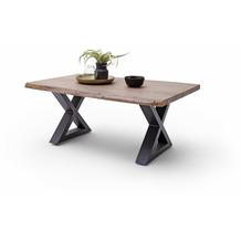 MCA furniture Cartagena Couchtisch walnuss anthrazit lackiert X-Beine 110 x 45 x 70 cm
