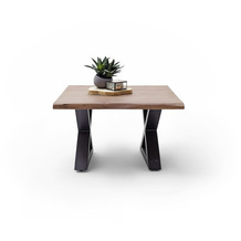 MCA furniture Cartagena Couchtisch walnuss anthrazit lackiert X-Beine 75 x 45 x 75 cm
