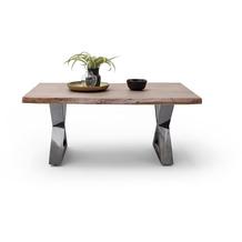 MCA furniture Cartagena Couchtisch walnuss antik gewischt X-Beine 110 x 45 x 70 cm