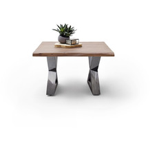 MCA furniture Cartagena Couchtisch walnuss antik gewischt X-Beine 75 x 45 x 75 cm