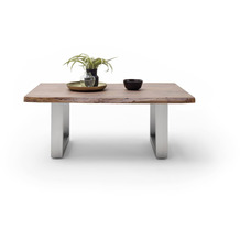 MCA furniture Cartagena Couchtisch walnuss Edelstahl gebürstet U-Beine 110 x 45 x 70 cm