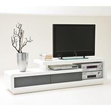 MCA furniture Celia TV-Lowboard mit 2 Schubkästen, weiß