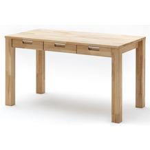 MCA furniture Cento Desk Schreibtisch mit 3 Schubkästen, Kernbuche