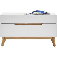 MCA furniture Cervo Garderobenbank weiß, Asteiche 4 Schubkästen 97 x 53 x 40 cm