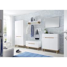 MCA furniture Cervo Garderobenschrank weiß, Asteiche  85 x 196 x 40 cm