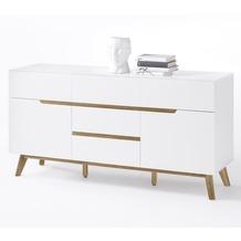 MCA furniture Cervo Kommode mit 1 Tür und 5 Schubkästen, weiß