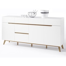MCA furniture Cervo Sideboard mit 3 Türen und 6 Schubkästen, weiß