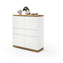 MCA furniture Chiaro Highboard weiß matt 2 Schubkästen 102 x 115 x 40 cm