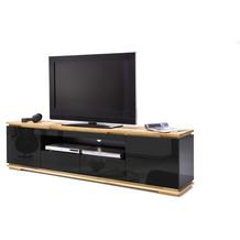 MCA furniture Chiaro Lowboard hochglanz schwarz 2 Schubkästen 202 x 54 x 40 cm
