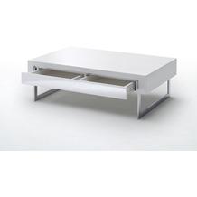 MCA furniture Cooper Couchtisch hochglanz weiß  110 x 40 x 70 cm