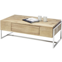 MCA furniture Danang Couchtisch Asteiche 1 Schubkästen 110 x 40 x 60 cm