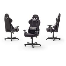 MCA furniture DX-Racer Drehstuhl mit Armlehnen schwarz  53 x 126 x 52 cm