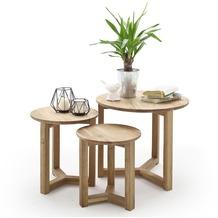 MCA furniture Faye 3er Couchtisch Set, Asteiche