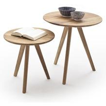 MCA furniture Genny 2er Couchtisch Set, Asteiche
