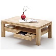 MCA furniture Gordon Couchtisch mit 2 Schubkasten, Kernbuche
