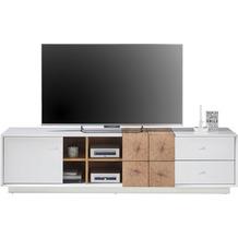 MCA furniture Jamaika Lowboard weiß matt 2 Schubkästen 180 x 46 x 40 cm