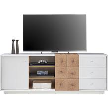MCA furniture Jamaika Lowboard weiß matt 3 Schubkästen 179 x 65 x 40 cm