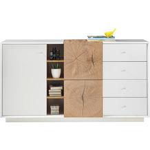 MCA furniture Jamaika Sideboard weiß matt 4 Schubkästen 152 x 83 x 40 cm