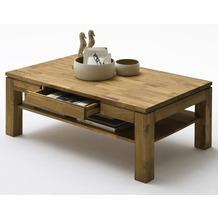 MCA furniture Julian Couchtisch mit Schubkasten und Ablageplatte, Asteiche
