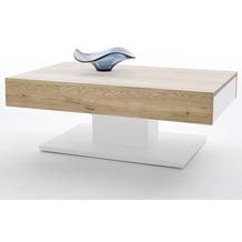 MCA furniture Lania Couchtisch mit 2 Schubkästen, Eiche