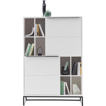 MCA furniture Lille Highboard weiß  100 x 149 x 40 cm