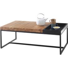 MCA furniture Lubao Couchtisch Asteiche schwarz  107 x 38 x 65 cm