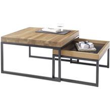 MCA furniture Lubao Couchtisch Asteiche schwarz  65 x 38 x 65 cm