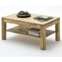 MCA furniture Lukas Couchtisch mit Schubkasten und Ablageplatte, Asteiche