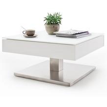 MCA furniture Mariko Couchtisch mit drehbarer Deckplatte, weiß