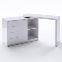 MCA furniture Matt Schreibtisch und Regal mit Drehfunktion