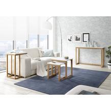 MCA furniture Riverside Beistelltisch weiß, Eiche 45 x 70 x 35 cm