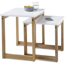 MCA furniture Riverside Couchtisch weiß. Eiche  50 x 50 x 40 cm