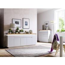 MCA furniture Romina Sideboard mit 5 Türen und 2 Schubkästen, weiß + Eiche